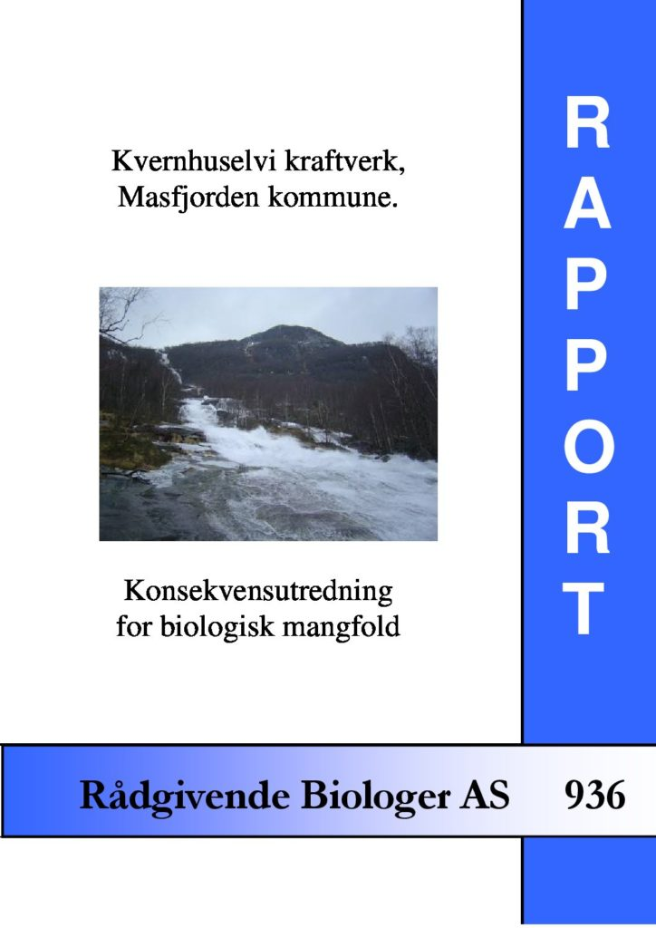Rapport cover - rapport 936