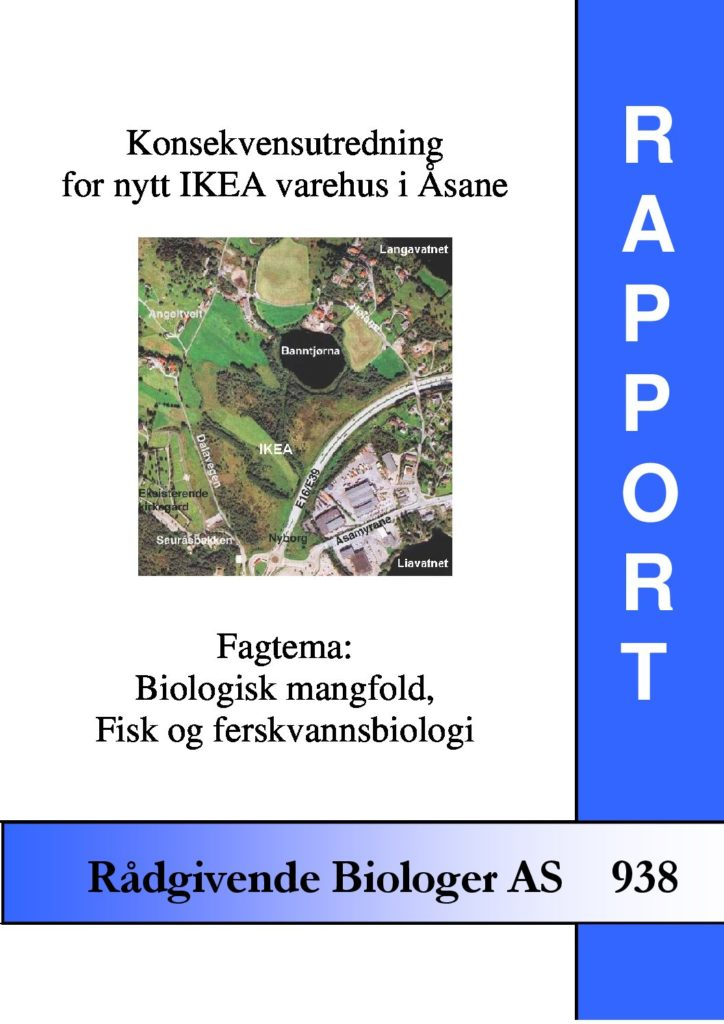 Rapport cover - rapport 938