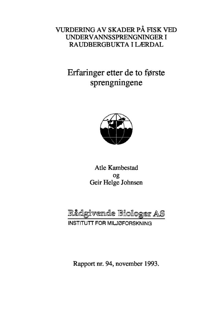 Rapport cover - rapport 94