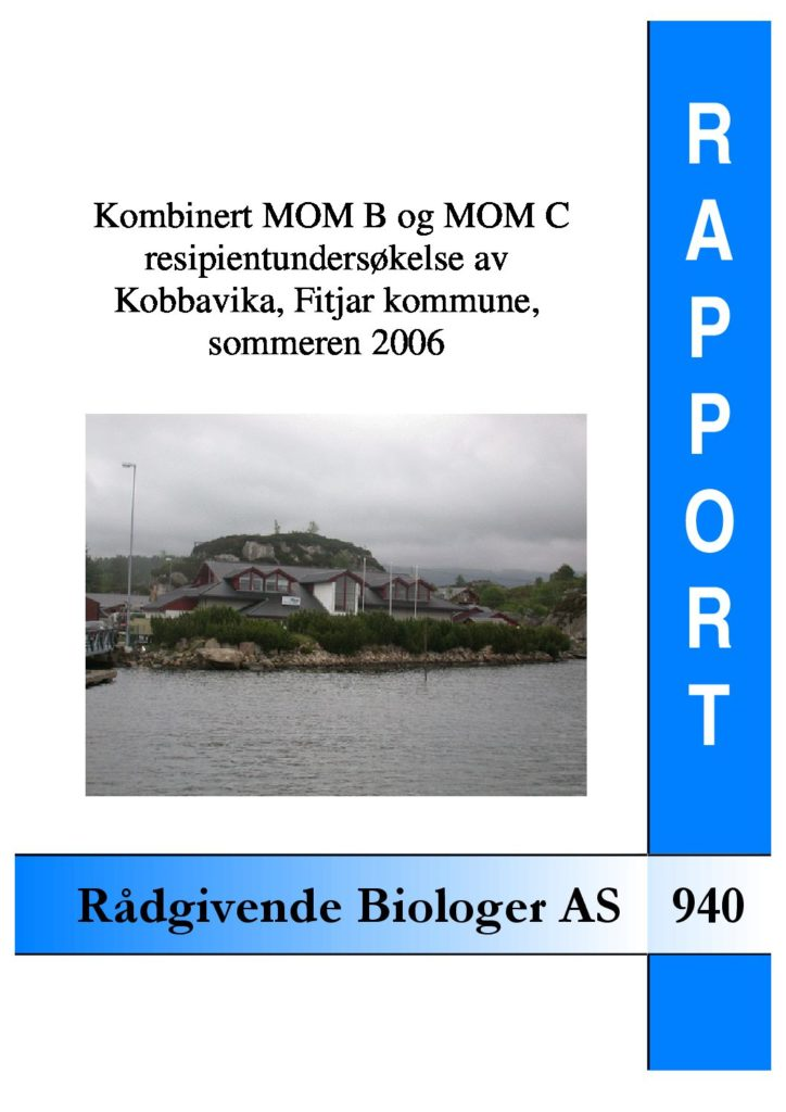 Rapport cover - rapport 940
