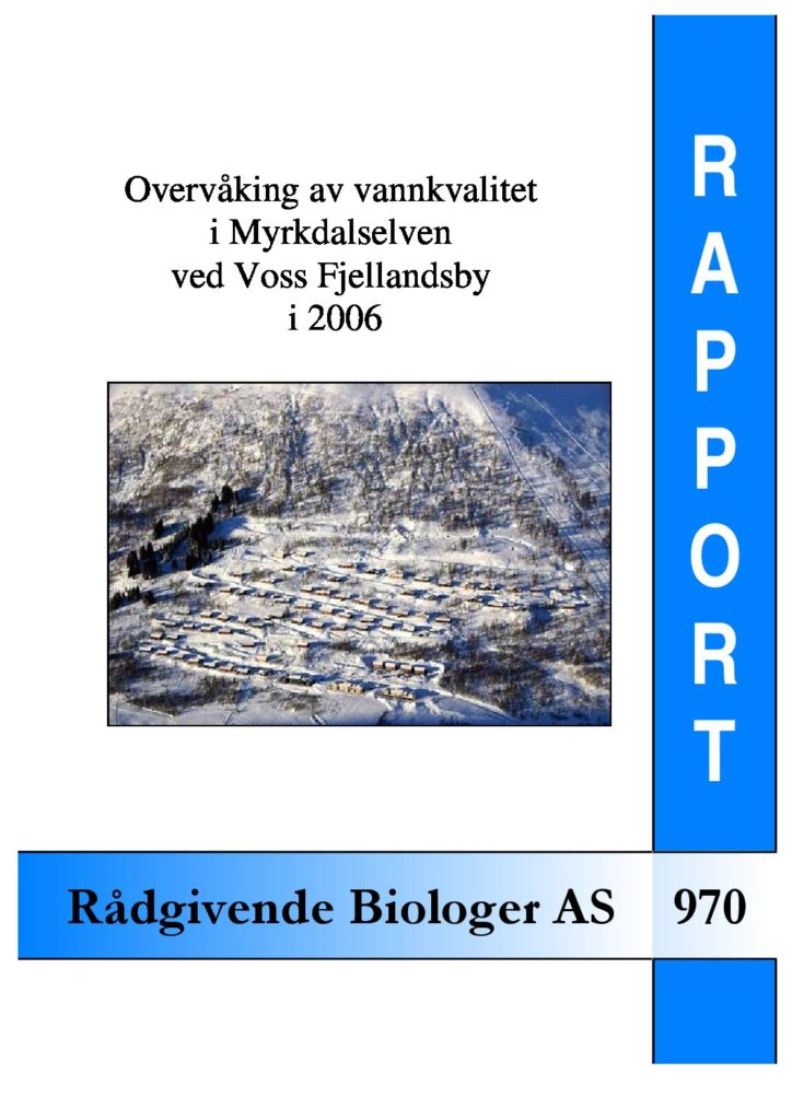 Rapport cover - rapport 970