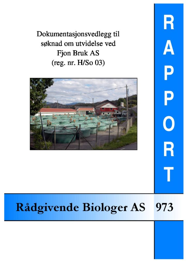 Rapport cover - rapport 973