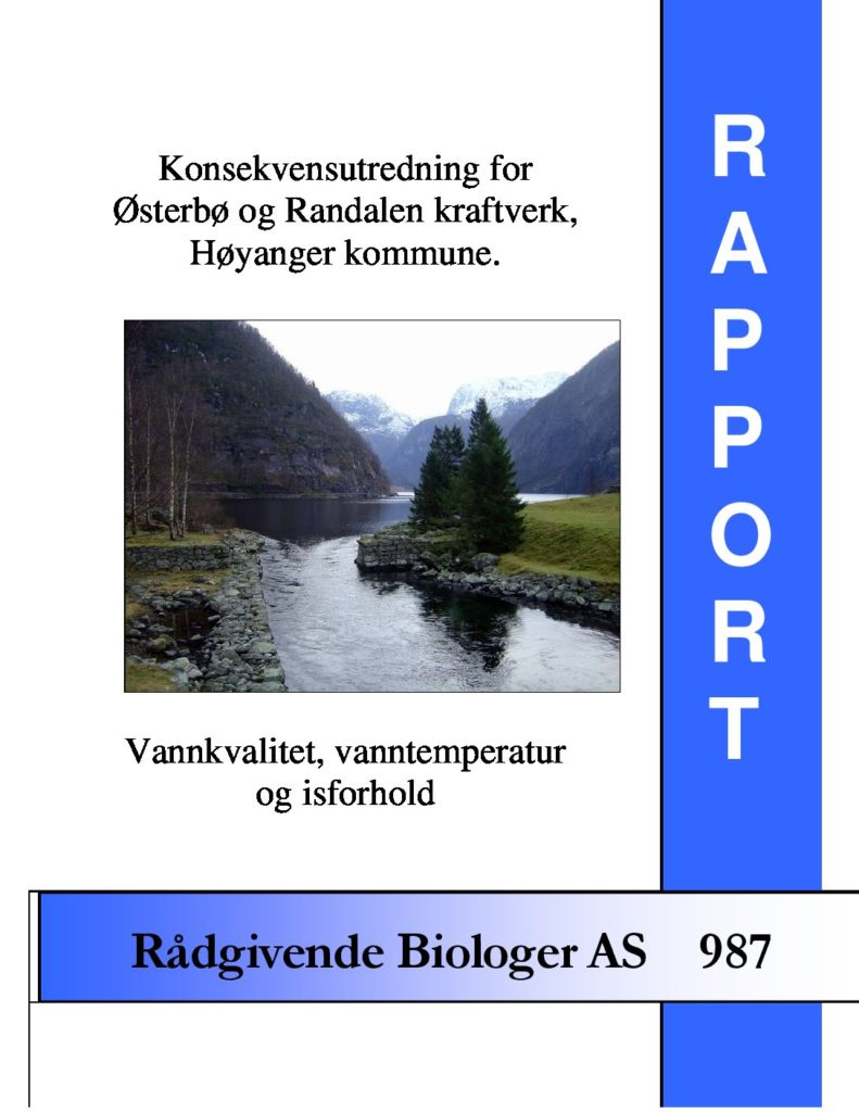 Rapport cover - rapport 987