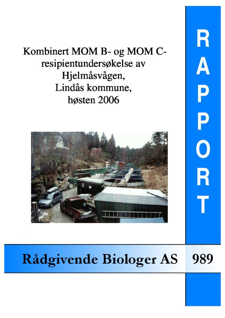 Rapport cover - rapport 989