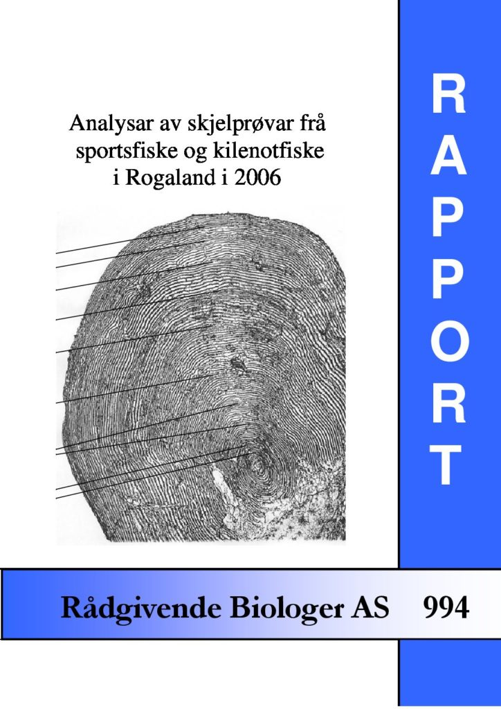 Rapport cover - rapport 994