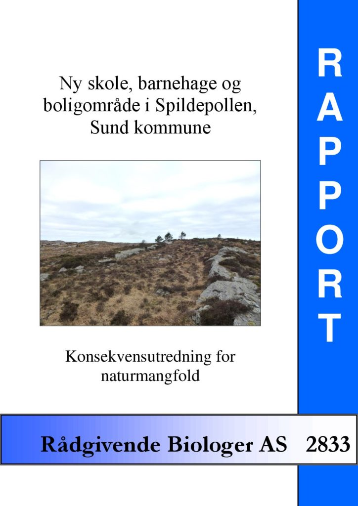 Rapport cover - rapport 2833