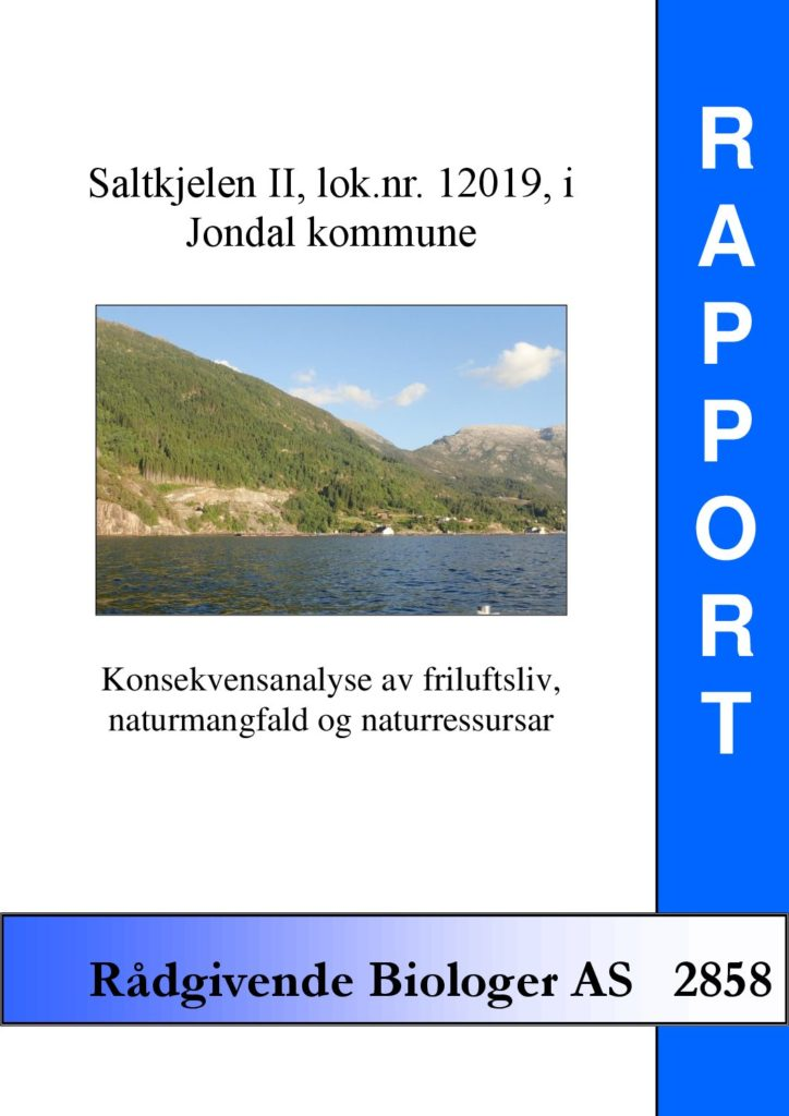 Rapport cover - rapport 2858