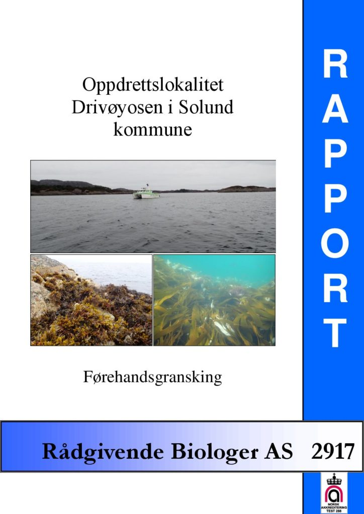 Rapport cover - rapport 2917