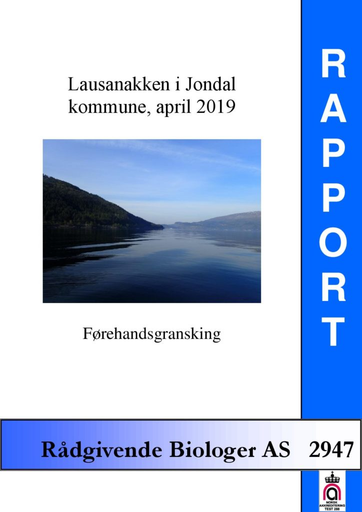 Rapport cover - rapport 2947