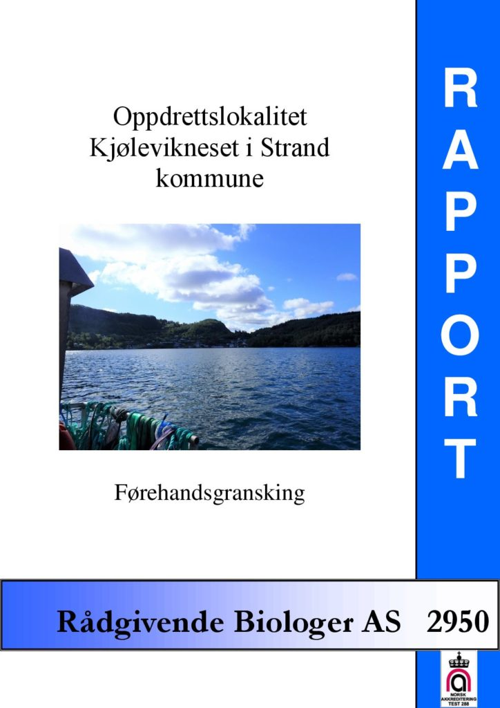 Rapport cover - rapport 2950