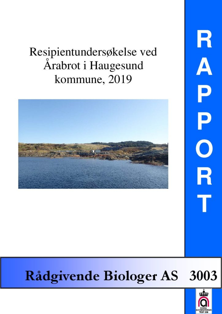 Rapport cover - rapport 3003