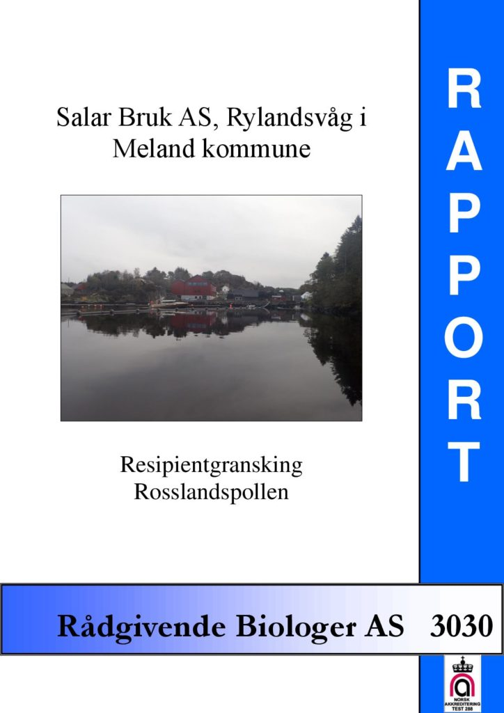 Rapport cover - rapport 3030