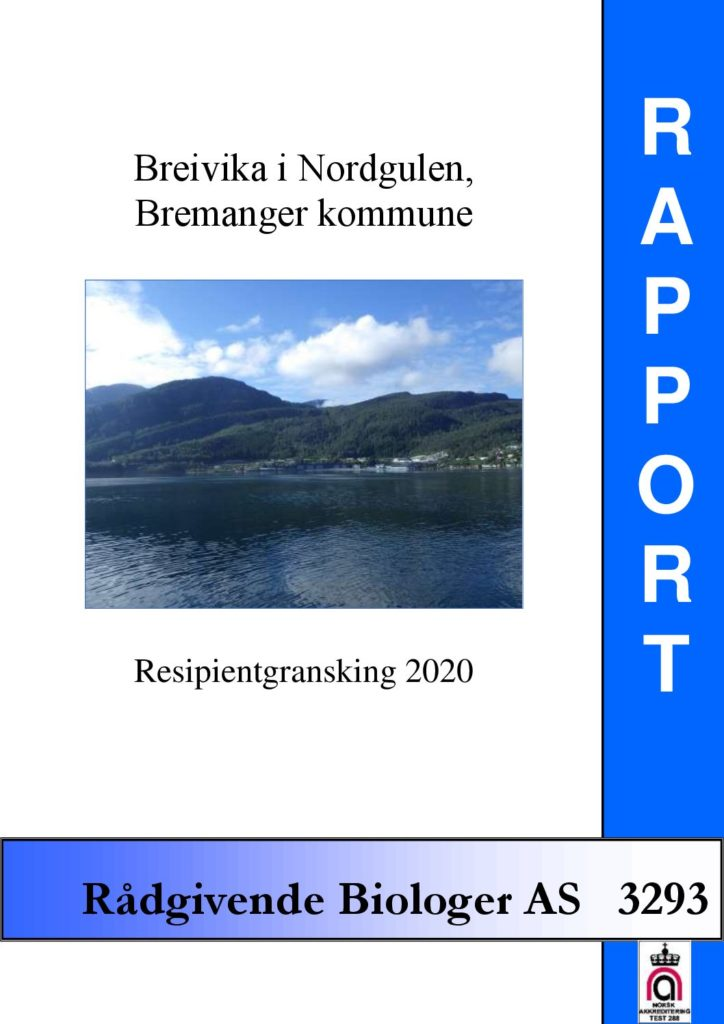 Rapport cover - rapport 3293